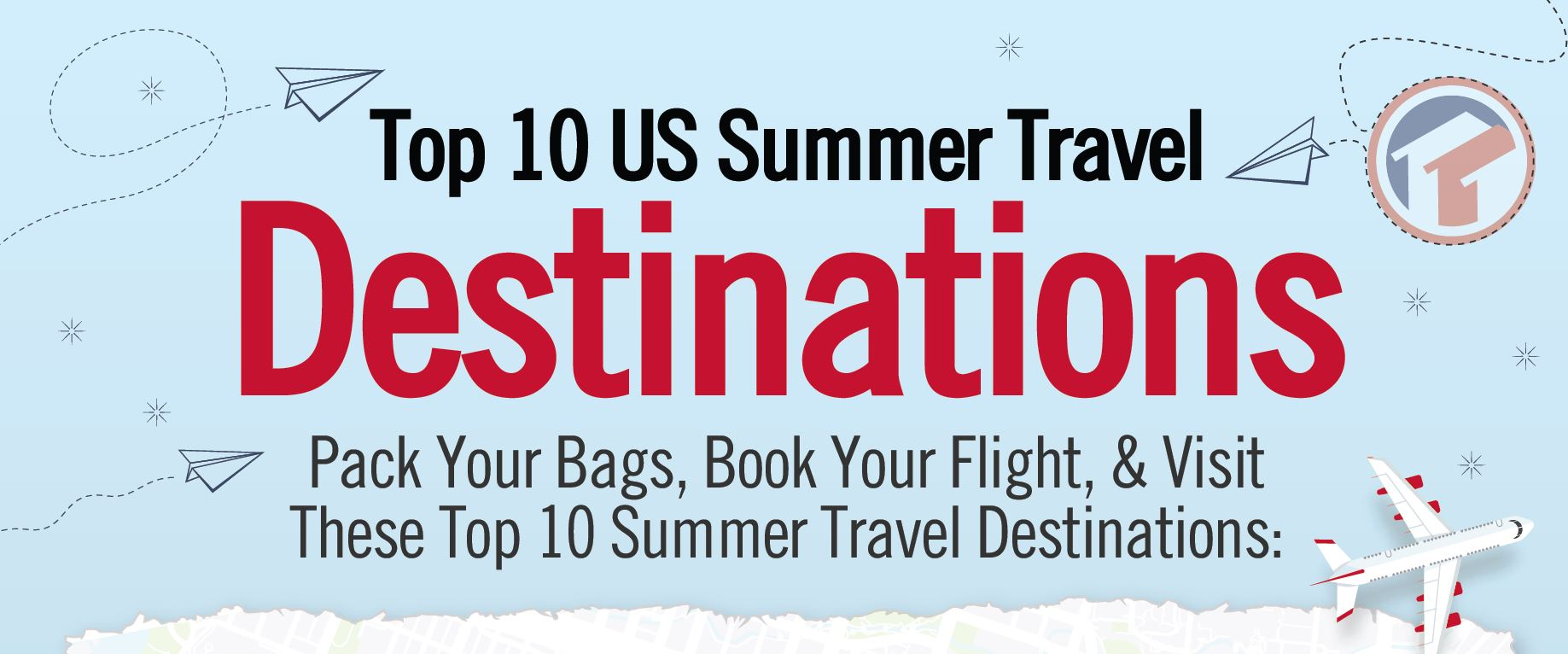 Top 10 us summer travel destinations tidewater mortgage for Top 10 vacation spots in the us